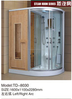 Solid wood sauna room steam room with shower room