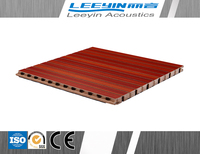 fireproof and sound proof wooden grooved acoustic panel
