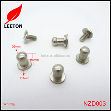 China supply brass screw button stud for garments