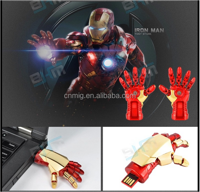 large memory special bulk The Avengers shaped mental usb flash drive