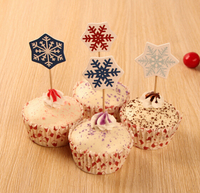 snow flake toothpick for Chrismas decoration cupcake