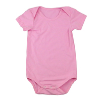 new design kids pure color pink comfortable cap cotton sleeve toddle romper