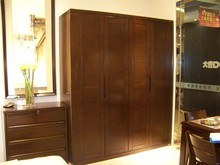 Home Furniture Living Room Solid Wood Clothes Wardrobe