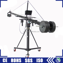 professional aluminium 8 m long electric control dv firm video camera jib crane