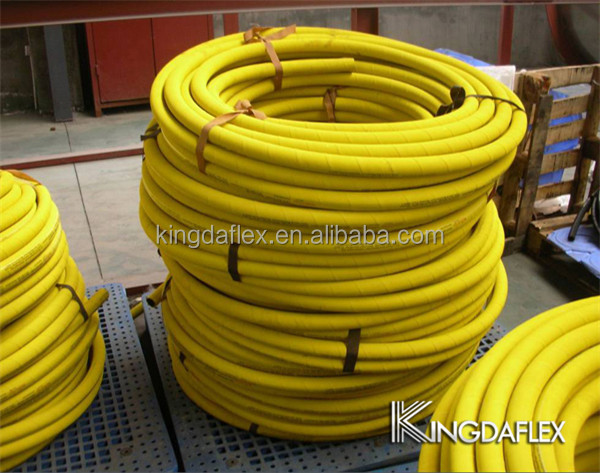 yellow neoprene rubber 2 inch flexible hose compressed air hose