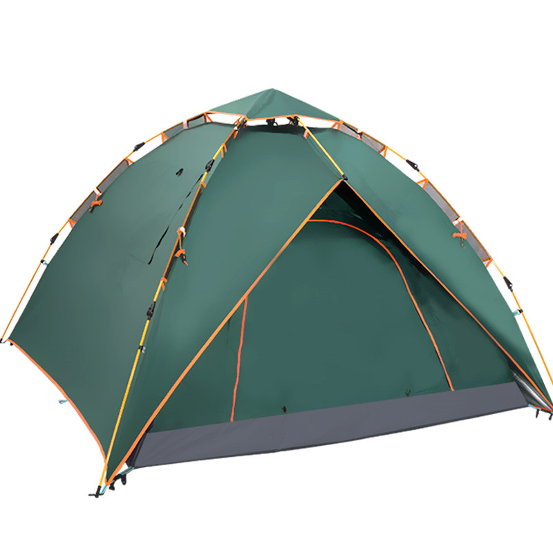 4 Man Automatic Spring Camping Tent Two Layer Luxury Ultraviolet-proof Outdoor Camping Tent