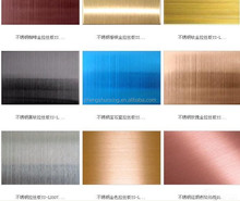 201 304 color stainless steel sheet/plate for decoration