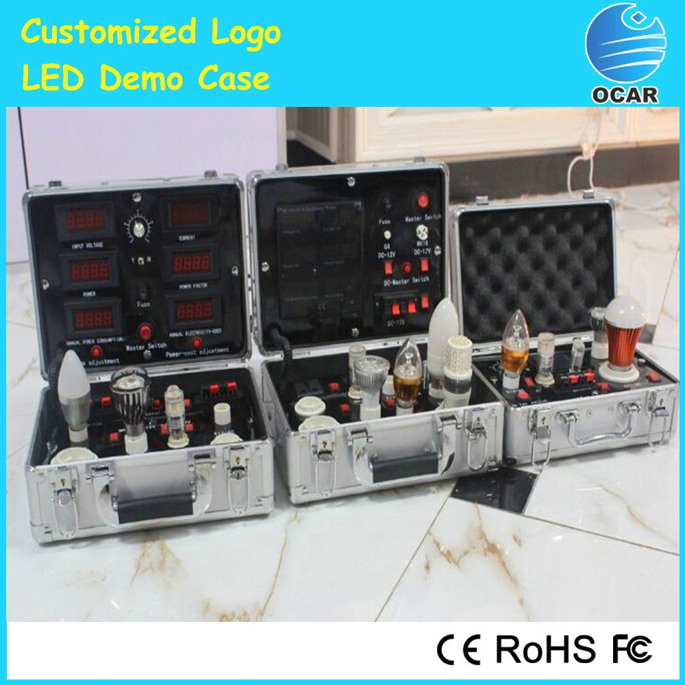 led lights parameters test suitcase