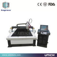 Jinan cnc plasma cutting metal steel machine/portable plasma cutter