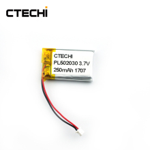 Li po battery 3.7v polymer battery 502030 300mAh for road block