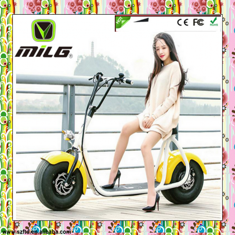 Cool sport high quality 800w / 1000w / 1600w / 2000w electric motorcycle vespa electric scooter for men