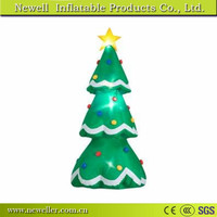 High quality silver tip christmas tree with LED