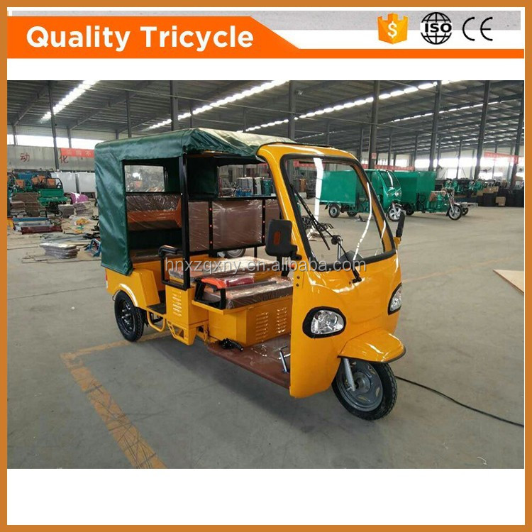 iso9001 solar india bajaj style 6-passenger tricycle