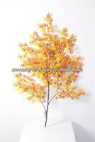 Wholesale high quality new design artificial orange maple leaves branch