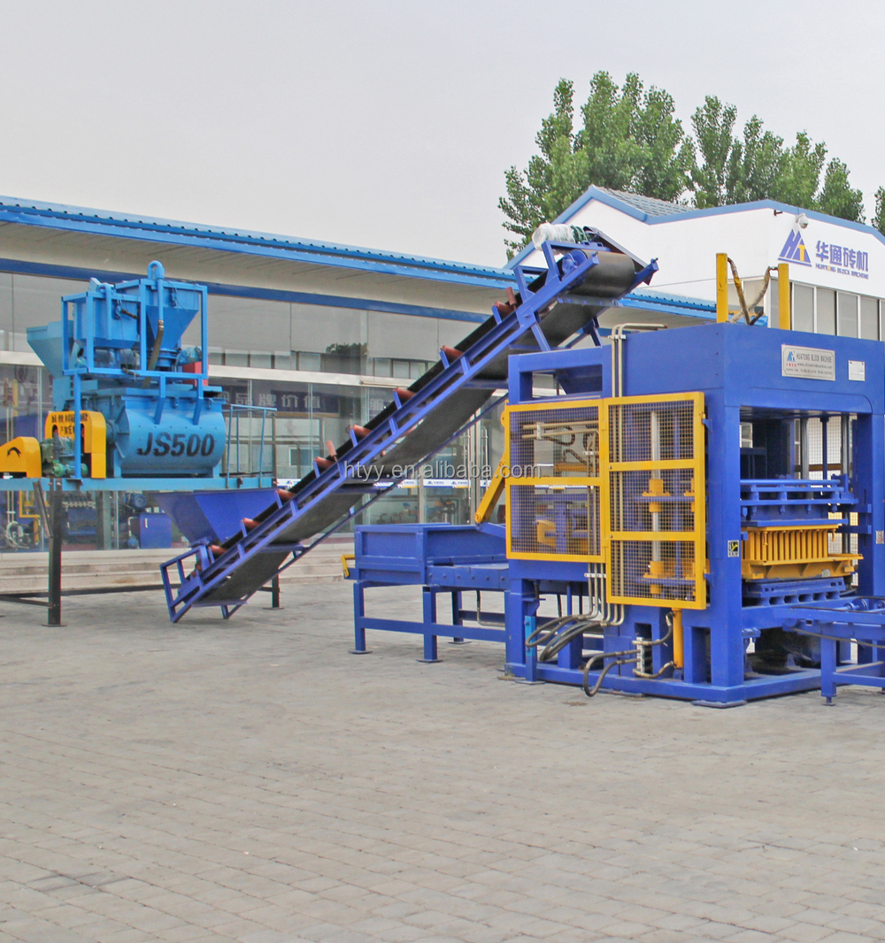 large size QT10-15 automatic Interlock brick machine