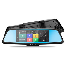 "Android 7"" 3G Car Rearview Mirror DVR car camera with Full HD 1080P Dual channel Camera, WIFI, GPS,G-sensor"