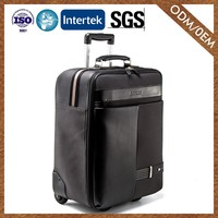 8 Years Manufacturer Classic Genuine Leather Premium Quality Laptop Trolley Bag