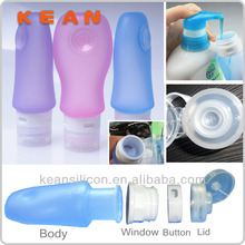 2014 Car Air Freshener Bottle Outdoor Fluid Container/BPA Free Carry-on Squeezable Silicone Travel Tube