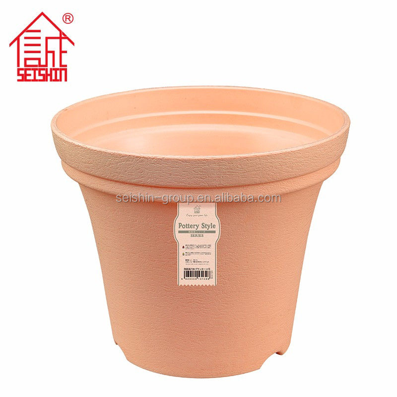 Beautiful Decorative Round PP Plastic Type Pot Outdoor Flower Large