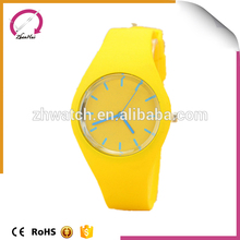 2017 Dress design fashion/vogue/business/simple style silicone band custom logo wholesale japanese movement quartz watch