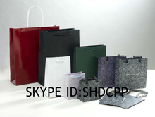 shanghai new fashion high quality fold shopping bag 2014 hand paper gift bags