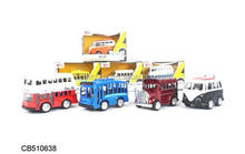 Diecast bus metal toy bus