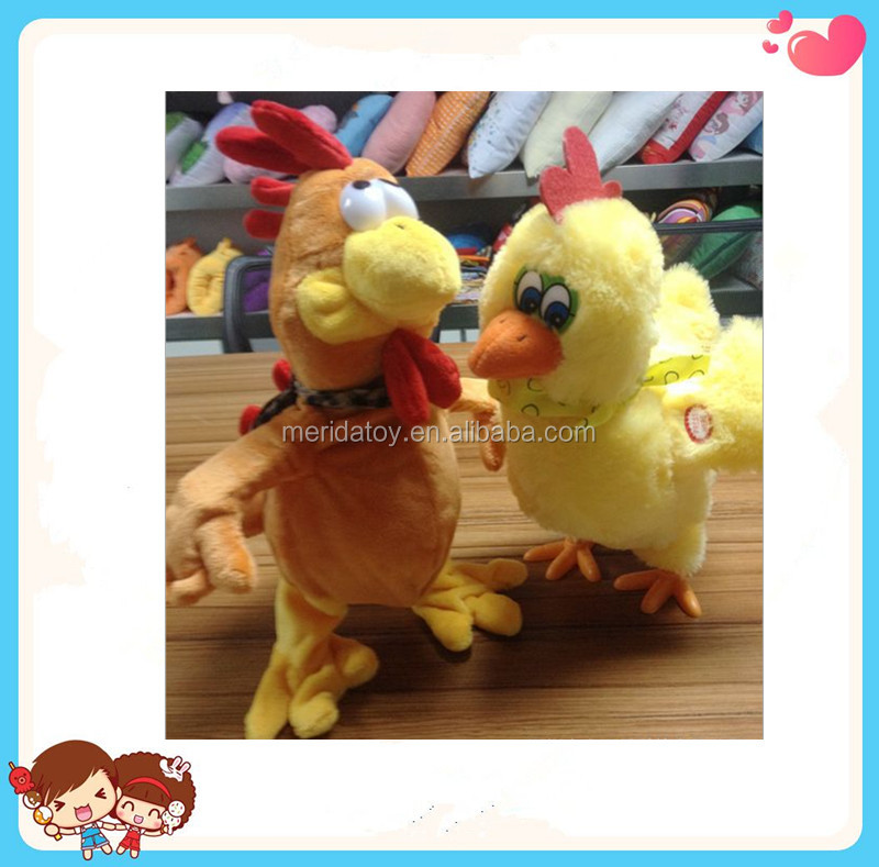 2016 new design creative custom Easter gife Electronic plush chicken lay eggs toy walking singing chicken toy