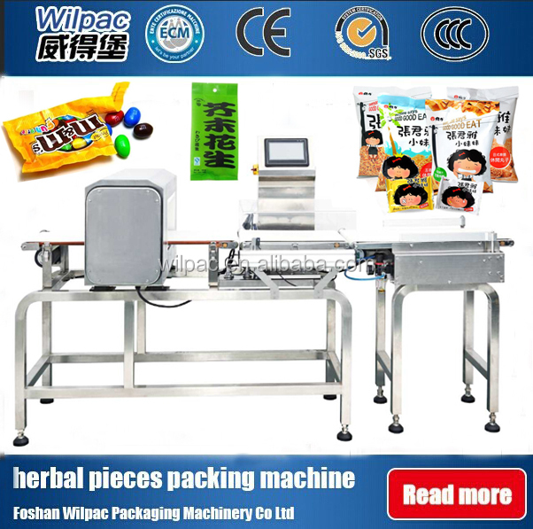 Combination Check Weigher And Metal Detector Machine System