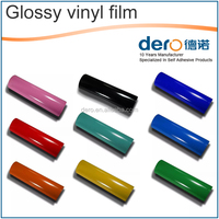 Dero Auto glossy red vinyl film for car color changing