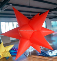 party christmas star inflatable lights