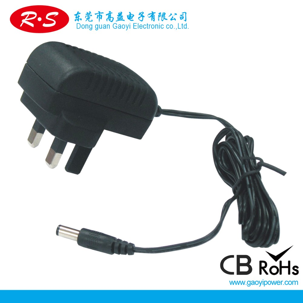 Wall mount AC to DC 24w power adapter with CE GS UL SAA PSE KC(Eu plug)