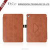 Durable brown hand strap Folio PU Leather case for iPad pro 9.7 inch tablet with pen holder