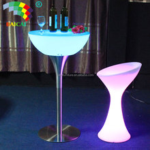 Rechargeable Waterproof RGB Full Color LED Bar Table LED Cocktail Bar Table LED Bar Furniture