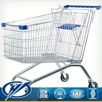 Competitive Price Stainless Steel Custom Fitted Two Wheels Shopping Cart Shopping Trolley Luggage