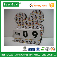 Mickey Mouse Inspired Theme Decor Wood Block Perpetual Calendar
