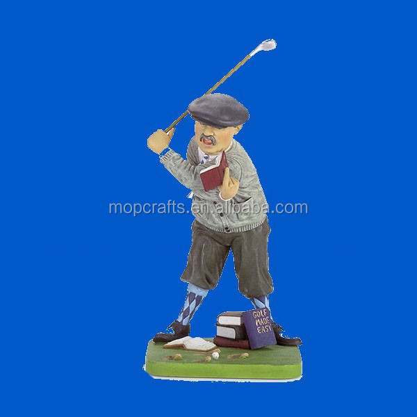 Polyresin golfer Statue, Resin golf sculpture