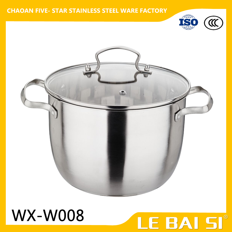 Hot Sale Stainless Steel Soup pot The Korean Higher Stock Pots with handles cooking pot