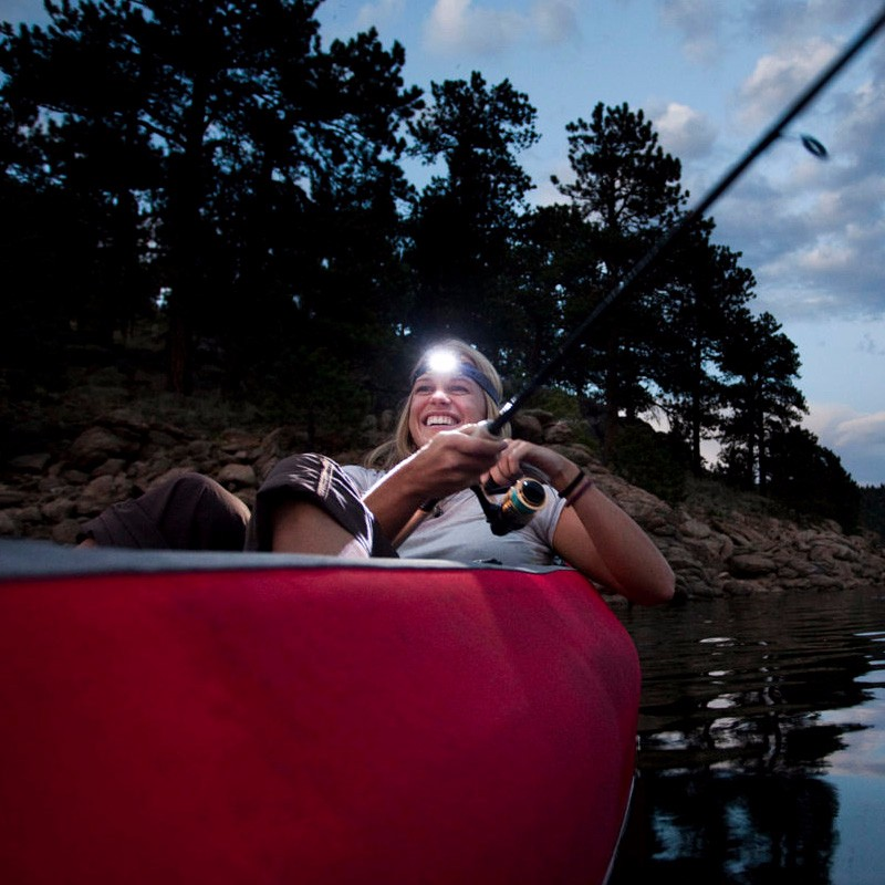 UYLED AA Battery Operated Head Light IPX4 Waterproof Camping LED Headlamp Flashlight With Head Strap