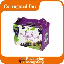 custom printing Eco-friendly grapes corrugated shipping box with handle