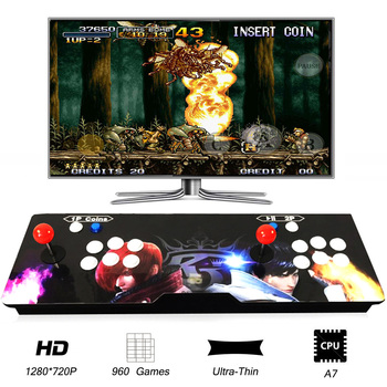WINIT TV, PC Computer Home Game Console Slim Wooden Dragon Fist 5S 2 Players 960 in 1 Joystick Video Game Consolesor