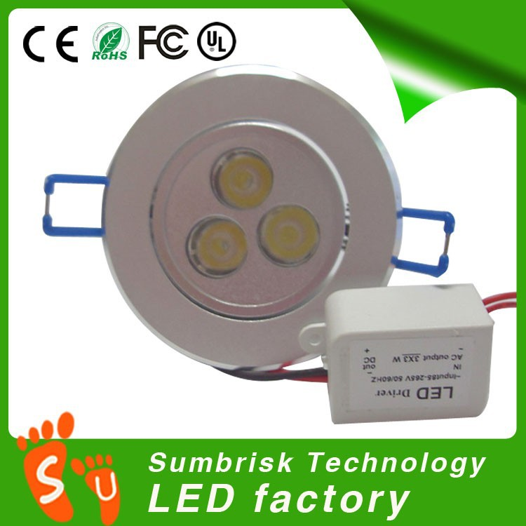 Factory supplies 9w led ceiling pot lights