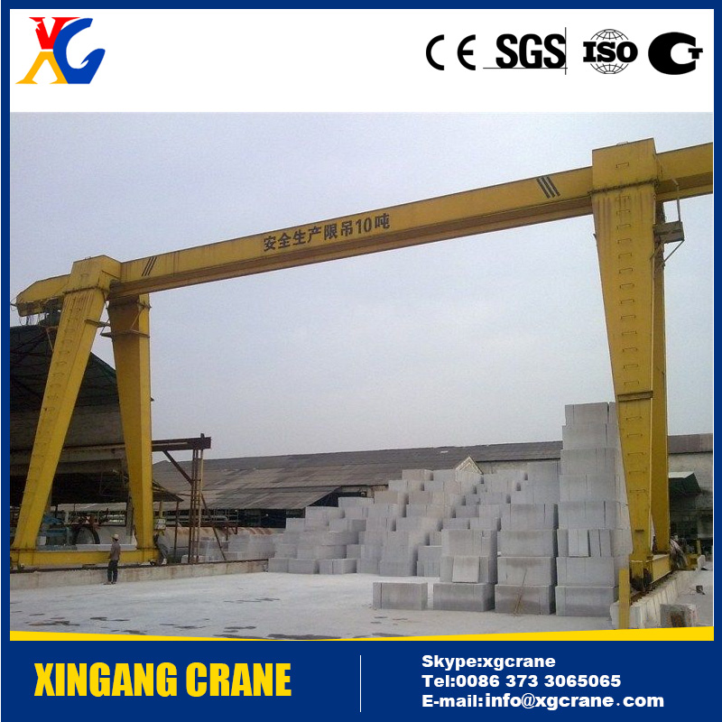 Outdoor Used Hot Sale Granite Gantry Crane 10 ton for Handling Marble Blocks