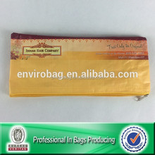 Recycled Custom made pp woven hair packaging bags