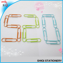 stationery fancy colorful office paper clips