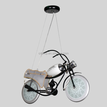 Motorcycle droplight cartoon lighting boy personality of children room bedroom lamp creative LED lighting lamps and lanterns
