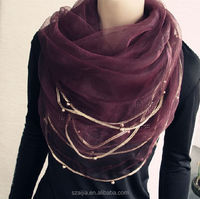 Fashion female viscose lace long scarf/shawl
