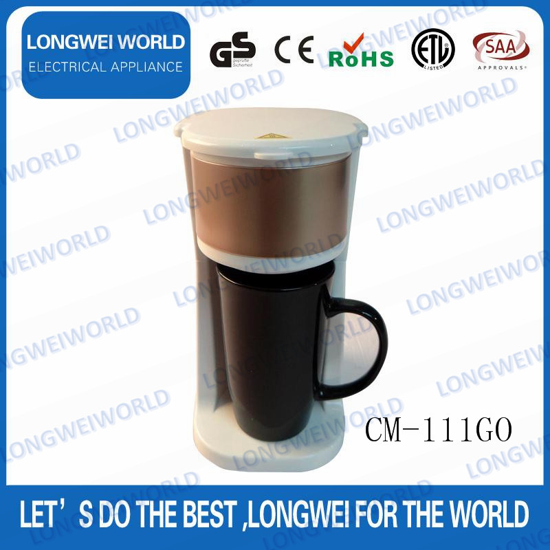Low Price single cup coffee maker with grinder CE certificate
