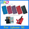 High quality Leather cell phone case cover for iphone 5