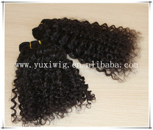 100% unprocessed brazilian virgin wholesale nature kinky curly hair extensions for african american