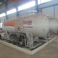 Hot sale 12000l cng filling station gas storage tank
